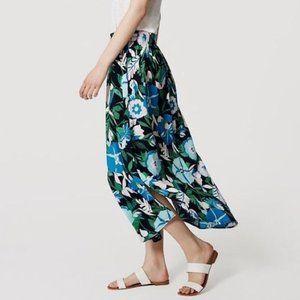 NWT LOFT | Jungle Floral Maxi Skirt POCKETS!